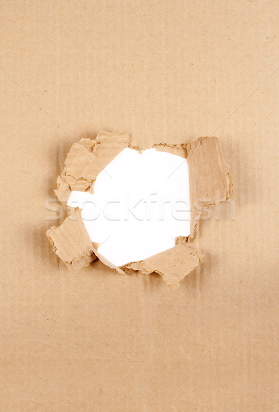 Cardboard Hole  Stock photo © carloscastilla
