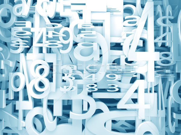 numbers and letters background  Stock photo © carloscastilla
