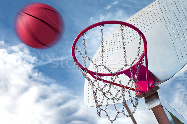 basketball hoop Stock photo © carloscastilla