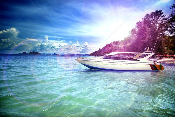 Yacht viaggio esotiche mare viaggio vacanze Foto d'archivio © carloscastilla