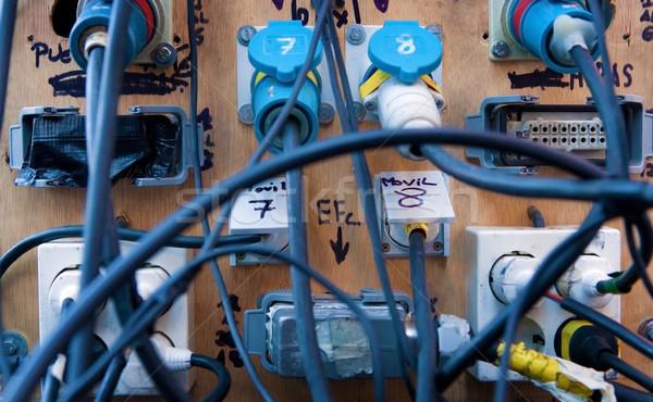 Kábel káosz közelkép kép üzlet számítógép Stock fotó © carloscastilla