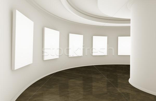 Salle d'exposition galerie 3D vide Photo stock © carloscastilla