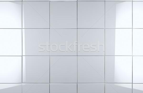 белый плитка 3D стены свет домой Сток-фото © carloscastilla