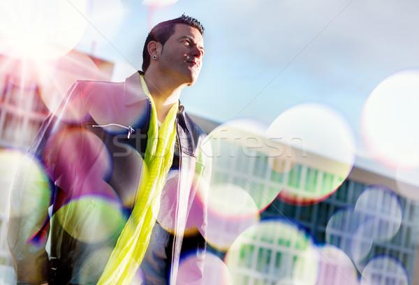 Man portrait in the city Stock photo © carloscastilla