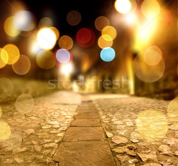 Abstract stone floor at night scenery Stock photo © carloscastilla