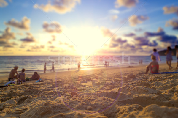 Phuket beach and sunset.Background holidays concept. Stock photo © carloscastilla
