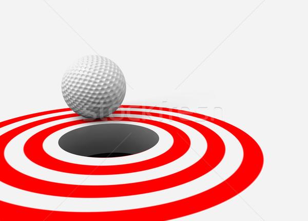 Golflabda lyuk 3D kép Stock fotó © carloscastilla