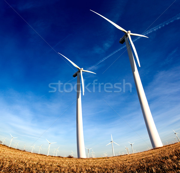 modern wind mills Stock photo © carloscastilla