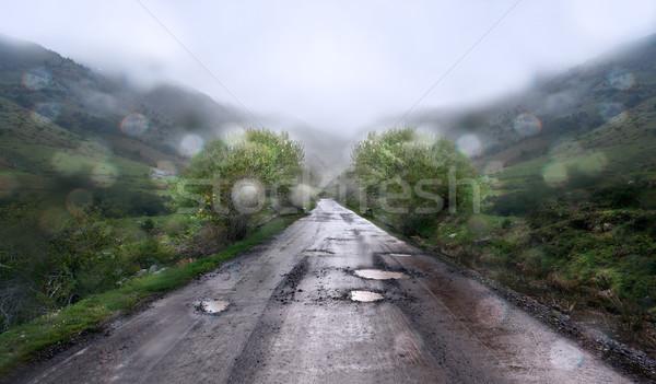 Rainy day  at mountain background Stock photo © carloscastilla