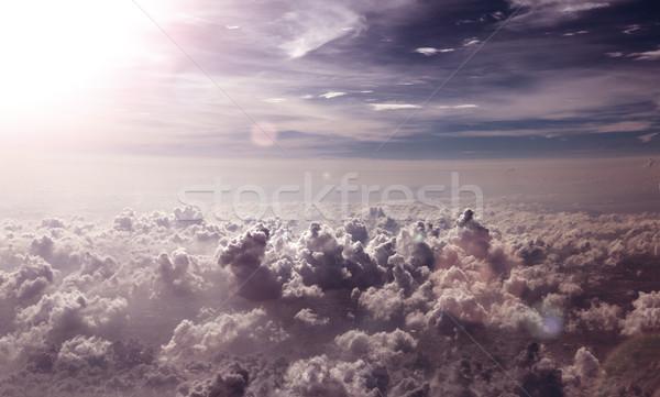 非現実的な 空 雲 日没 風景 太陽 ストックフォト © carloscastilla
