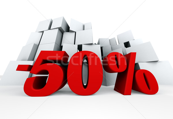 пятьдесят процент 3D изображение несколько окна Сток-фото © carloscastilla