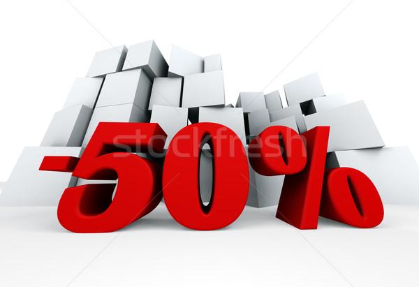 Fifty percent Stock photo © carloscastilla