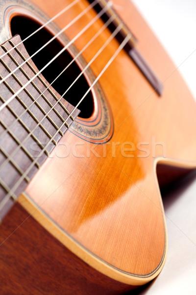 Spanish guitar detail Stock photo © carloscastilla