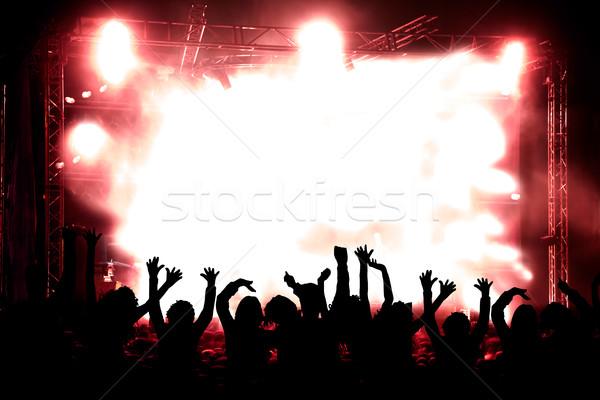 концерта красный жить музыку общественного Сток-фото © carloscastilla