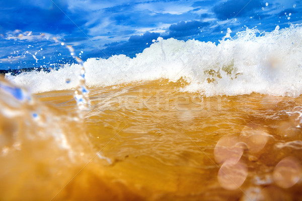 Tenger absztrakt hullám tengerpart naplemente természet Stock fotó © carloscastilla