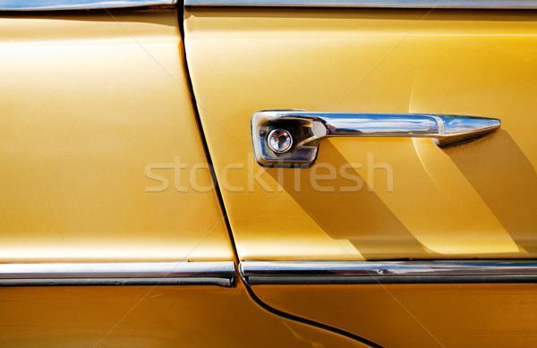 Oldtimer textuur detail deur auto abstract Stockfoto © carloscastilla