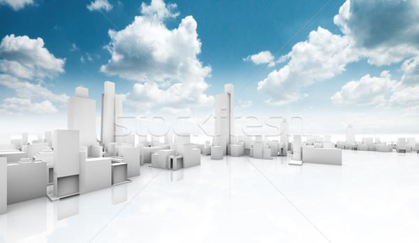 Ecologico costruzione città business cielo costruzione Foto d'archivio © carloscastilla