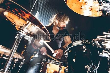 жить музыку инструмент человека играет Сток-фото © carloscastilla