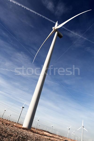 ветер энергии источник небе пейзаж Сток-фото © carloscastilla