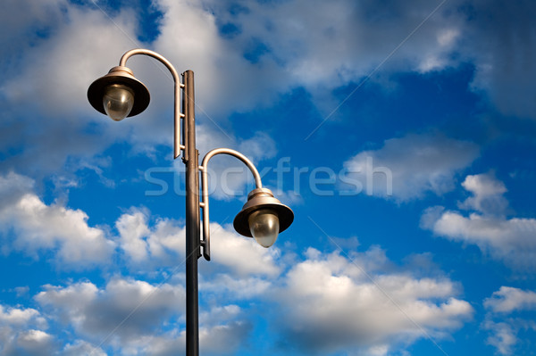 Urban landscape with lamppost Stock photo © carloscastilla