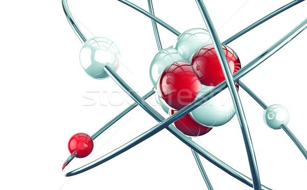 Atom 3D modern terv modell technológia Stock fotó © carloscastilla