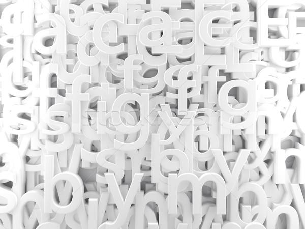 white  alphabet Stock photo © carloscastilla