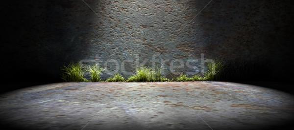 Background empty street and concrete wall Stock photo © carloscastilla