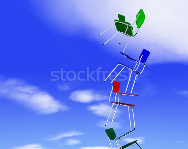 Colored chairs Stock photo © carloscastilla