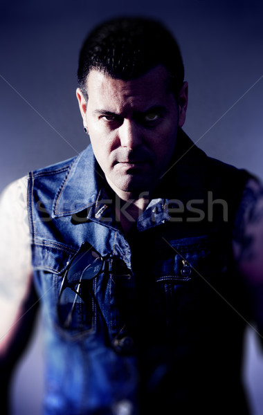 Frontal angry man portrait Stock photo © carloscastilla