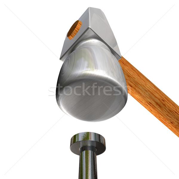hammer and nail Stock photo © carloscastilla