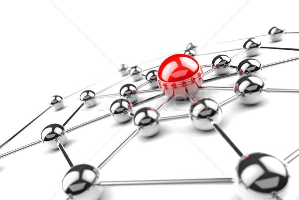 Netwerken internet kantoor wereld technologie achtergrond Stockfoto © carloscastilla