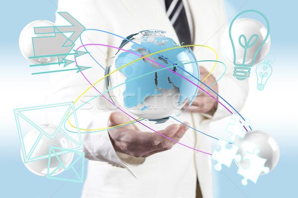 Мир карта технологий бизнеса служба мира Сток-фото © carloscastilla