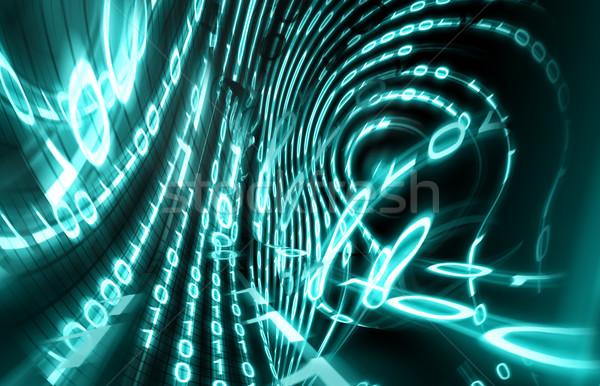 Código binario digital Screen 3D negocios Internet Foto stock © carloscastilla