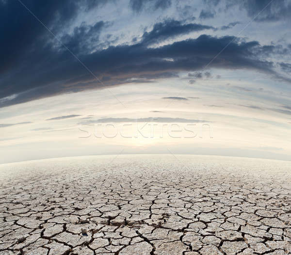 пустыне пейзаж почвы закат природы оранжевый Сток-фото © carloscastilla
