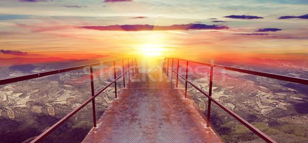 Sky and floor gateway or small bridge background Stock photo © carloscastilla