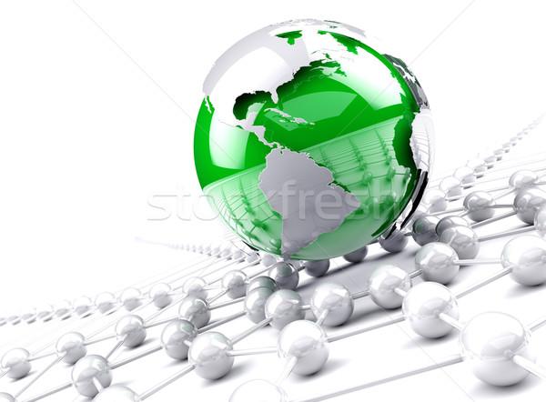 Photo stock: Réseau · monde · monde · affaires · internet · travaux
