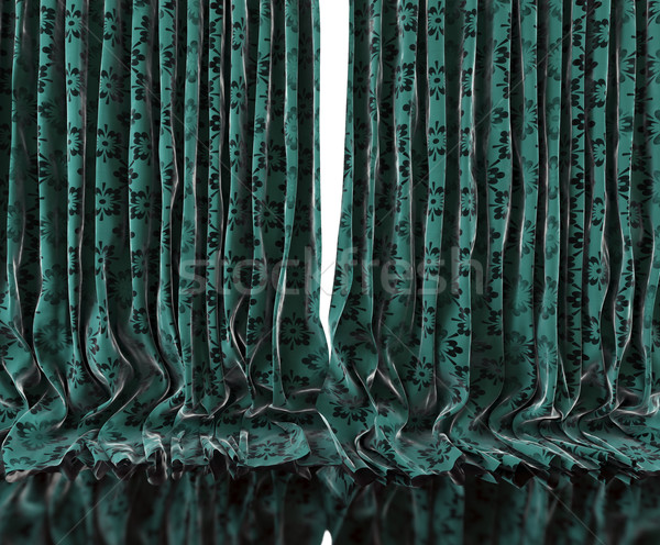 Vintage floral curtains background Stock photo © carloscastilla