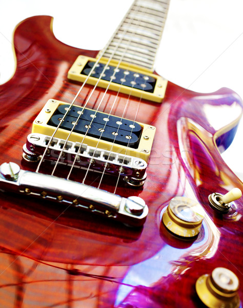 электрической гитаре изолированный белый искусства рок цвета Сток-фото © carloscastilla