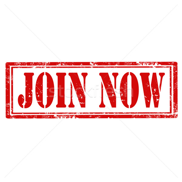 Stock photo: Join Now-stamp
