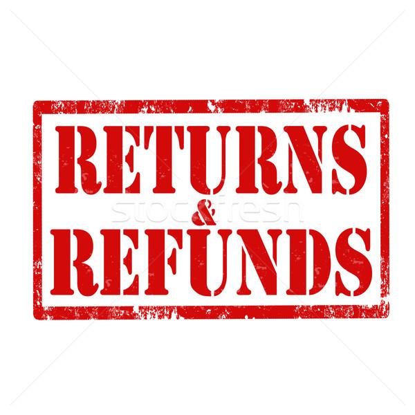 Returns & Refunds-stamp Stock photo © carmen2011