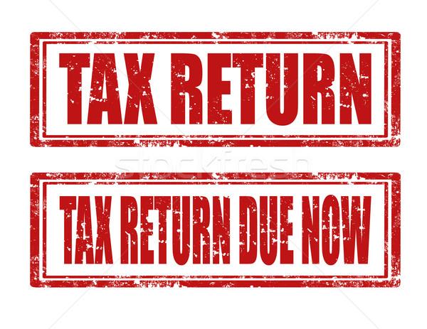 налоговых возврат Гранж резиновые марок фон Сток-фото © carmen2011