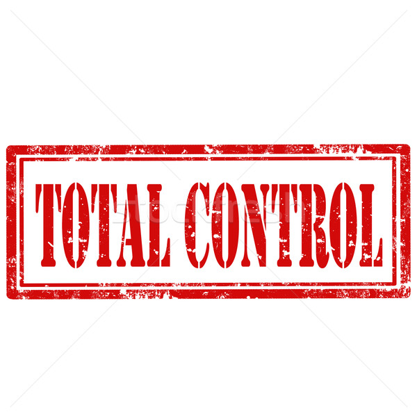 Total Control-stamp Stock photo © carmen2011