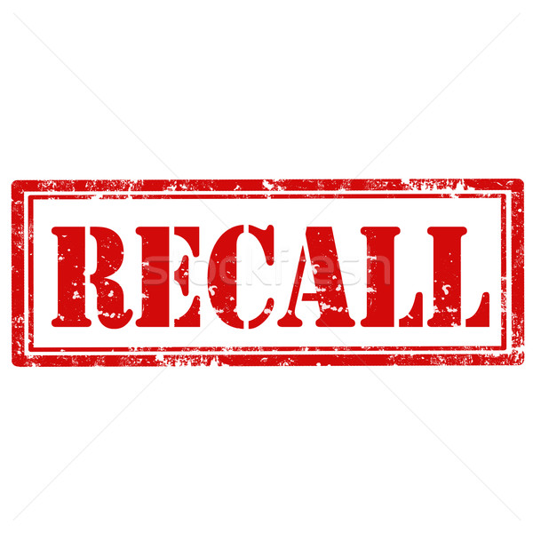 Recall-stamp Stock photo © carmen2011