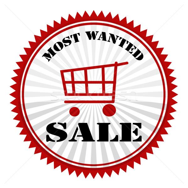 Keresett vásár bélyeg szöveg üzlet piros Stock fotó © carmen2011