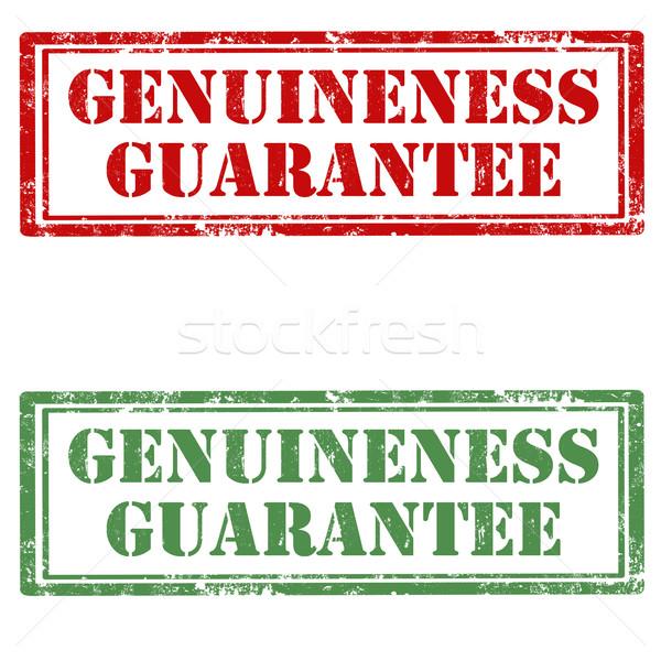 Garantir conjunto grunge borracha selos texto Foto stock © carmen2011