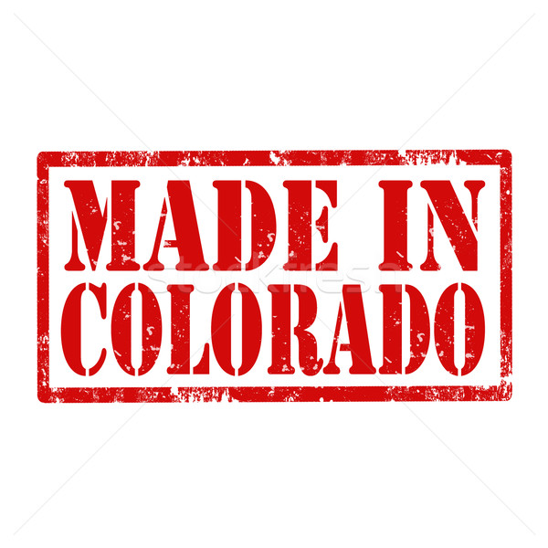Made In Colorado-stamp Stock photo © carmen2011