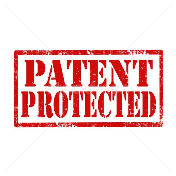 Patent grunge tekst bezpieczeństwa prawa Zdjęcia stock © carmen2011