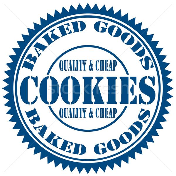 Cookies-stamp Stock photo © carmen2011