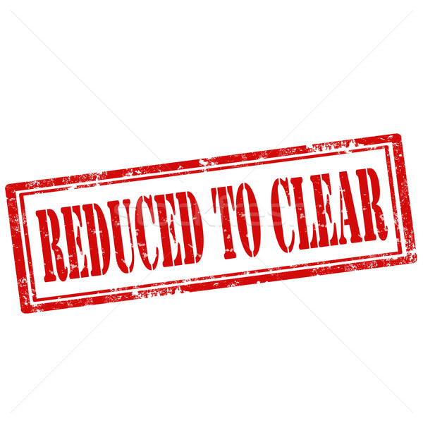 Reduced To Clear-stamp Stock photo © carmen2011