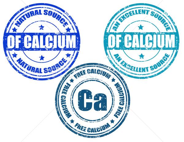 Szett grunge gumi bélyegek szó kalcium Stock fotó © carmen2011